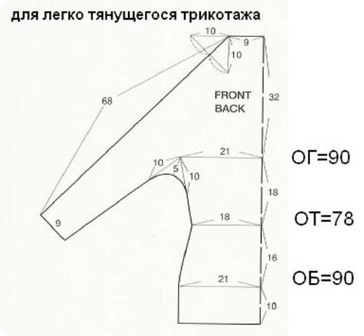 Кофта из трикотажа своими руками с рукавами