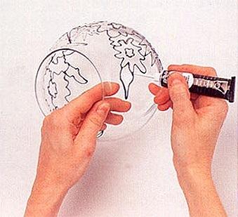 Роспись по стеклу своими руками