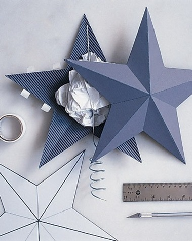 Новогодняя звезда на елку из бумаги своими руками