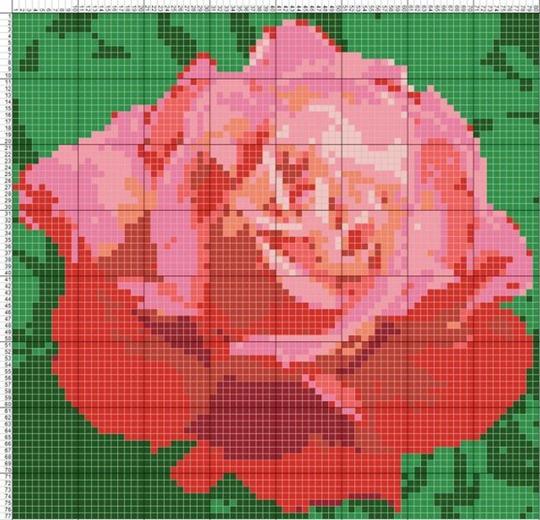 Схемы вышивки крестом: цветы