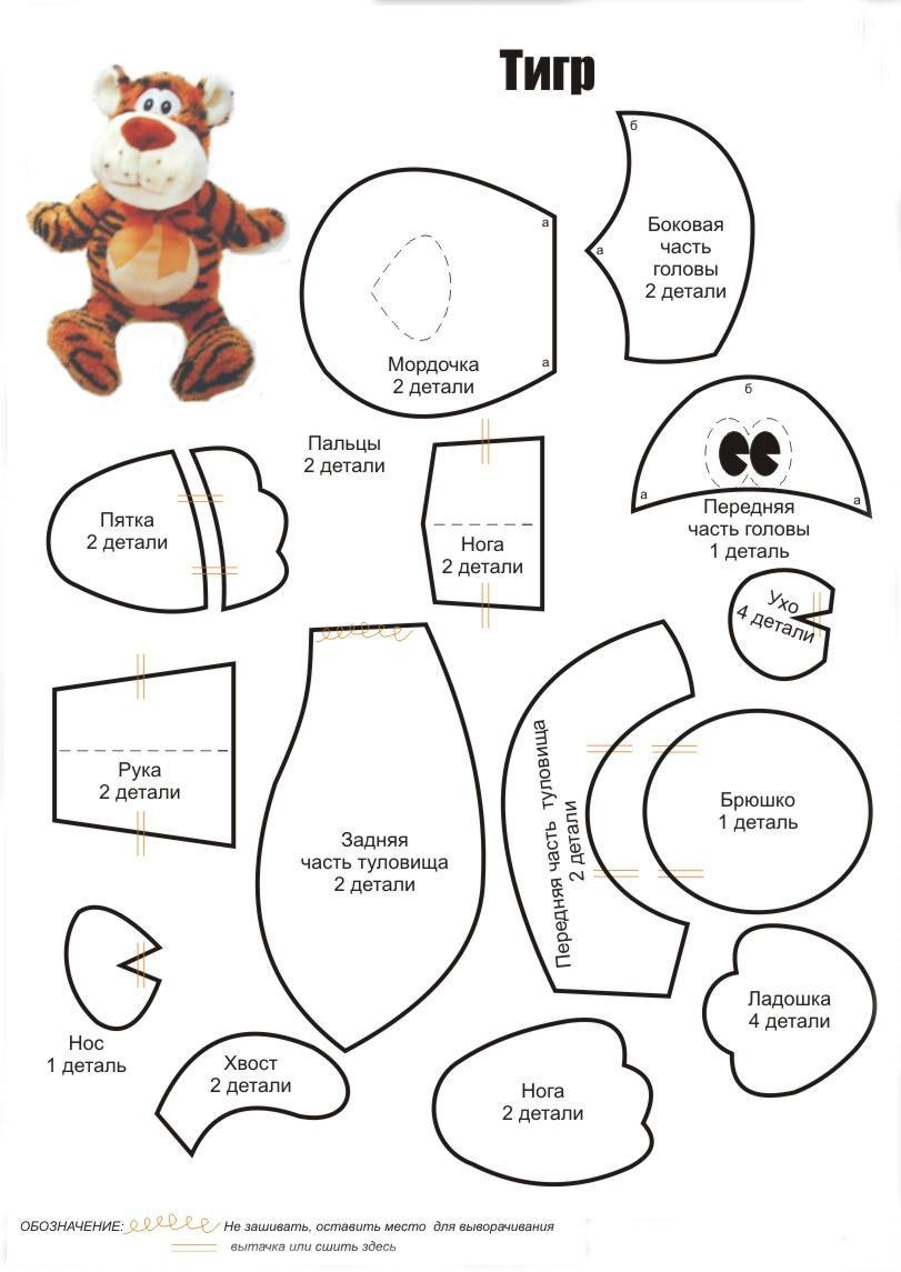 Детали для выкройки игрушек фото 870