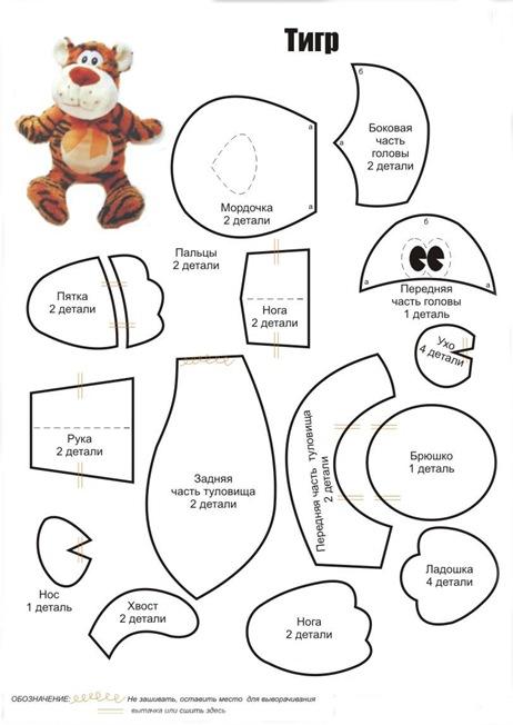 Выкройки мягких игрушек своими руками