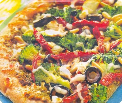Пицца вегетарианская рецепт