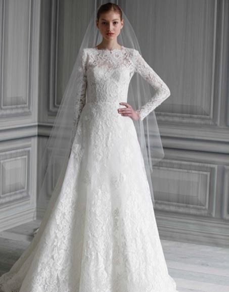 Свадебные платья с длинным рукавом LHUILLIER BRIDAL SS12 NEW YORK 04/10/11
