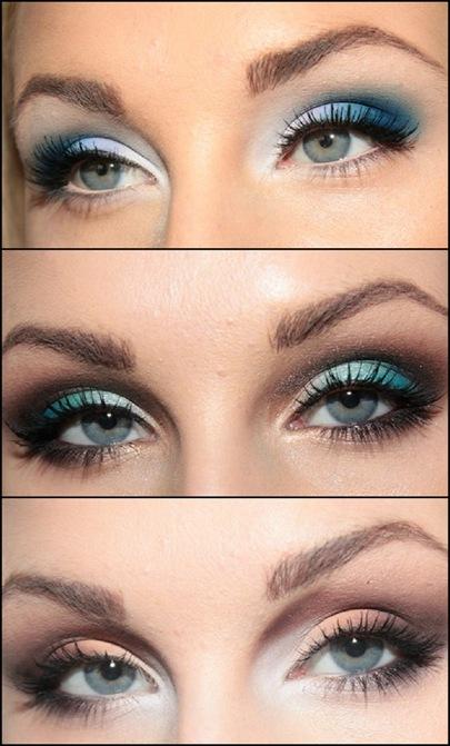 Фото вечернего макияжа глаз.