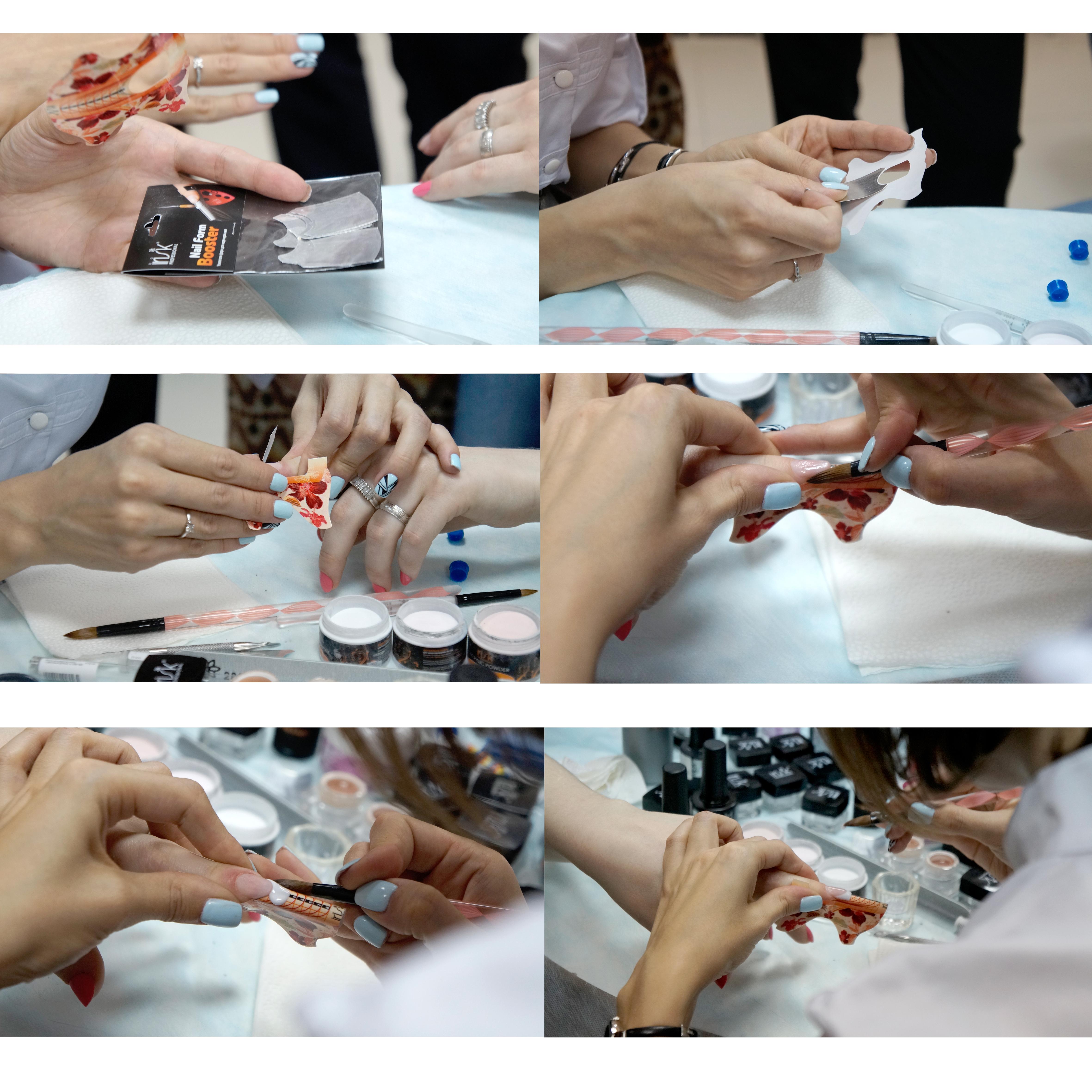 Как наносить акриловую пудру под гель лак
