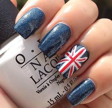 Маникюр британский флаг: креативный штрих нейл-арта