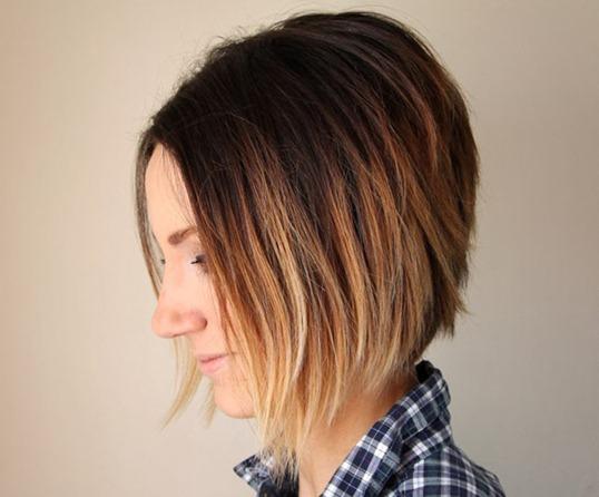 Покраска волос в стиле омбре