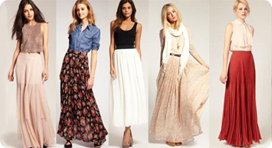 С чем одеть длинную юбку или несколько вариантов вашего образа