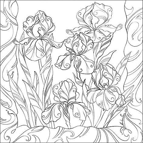 Рисунок для росписи батика