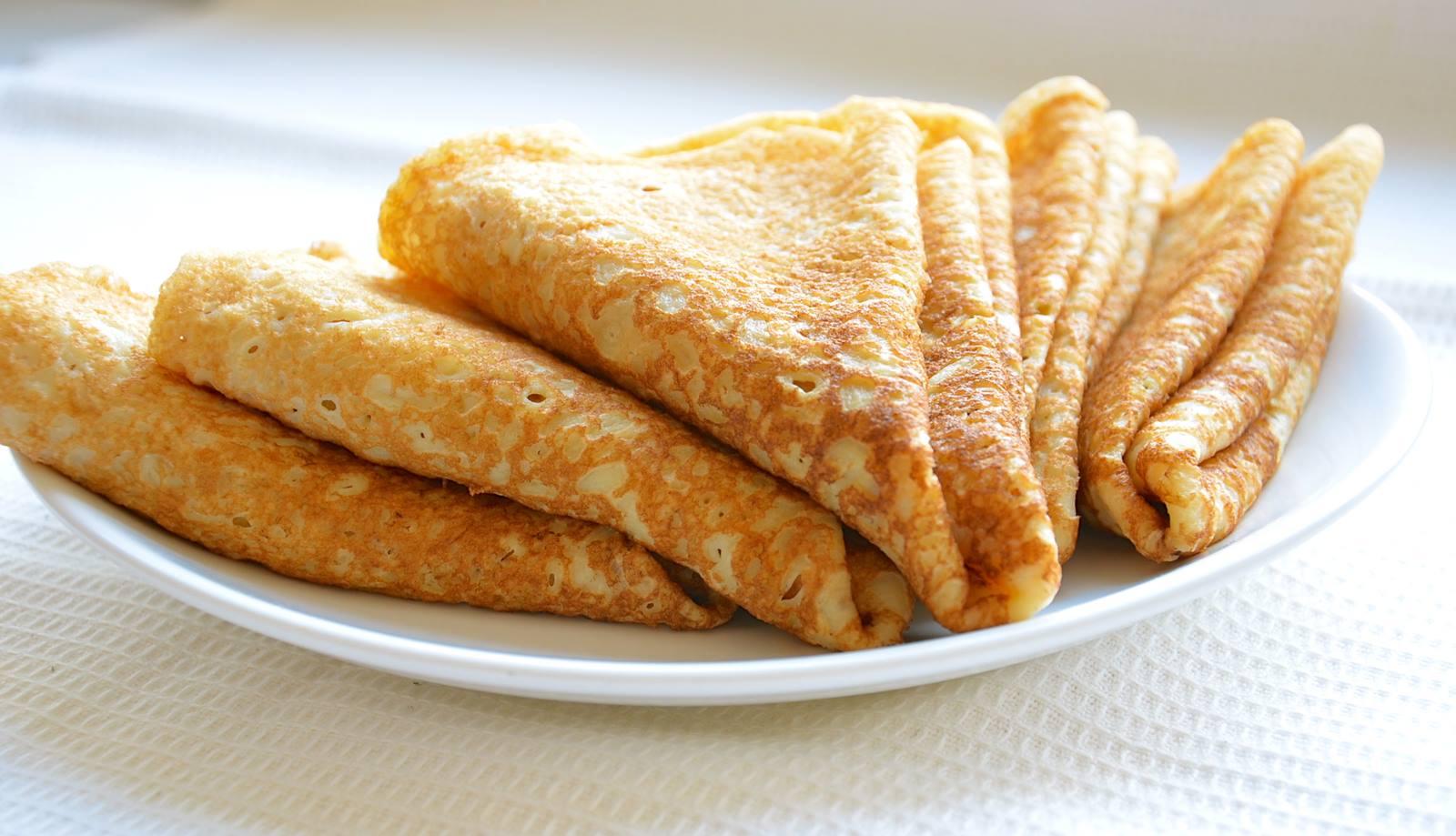 рецепт сладких блинов на сыворотке