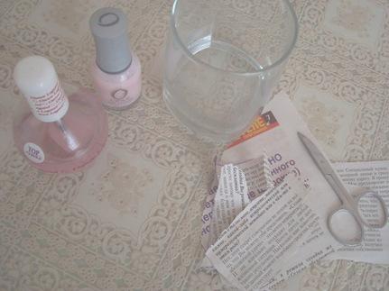 как сделать маникюр с газетой