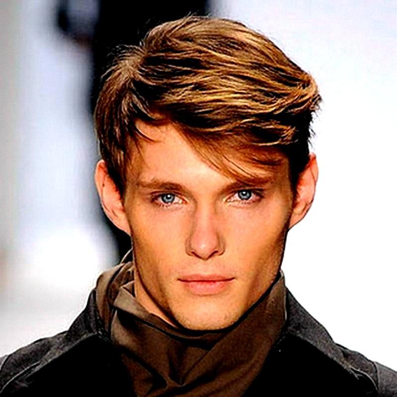 Стильные мужские причёски для средних волос