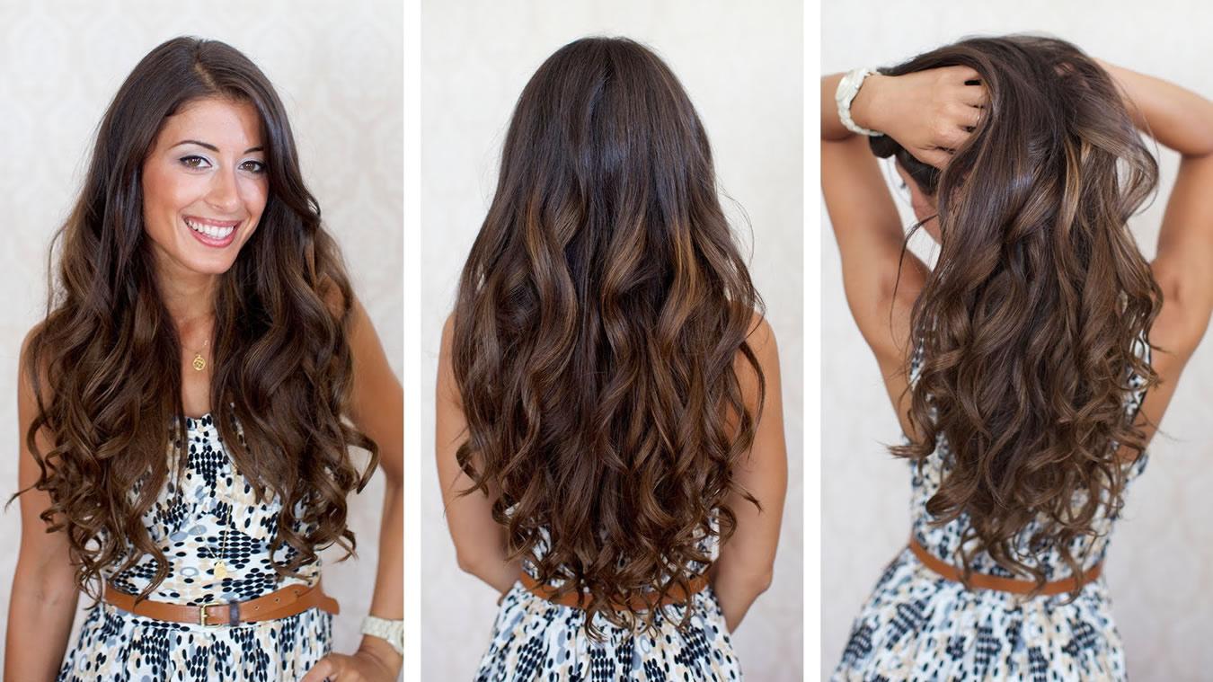 Локоны из длинных волос мастер класс