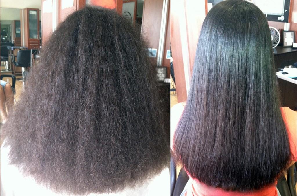 Выпрямление кудрявых волос