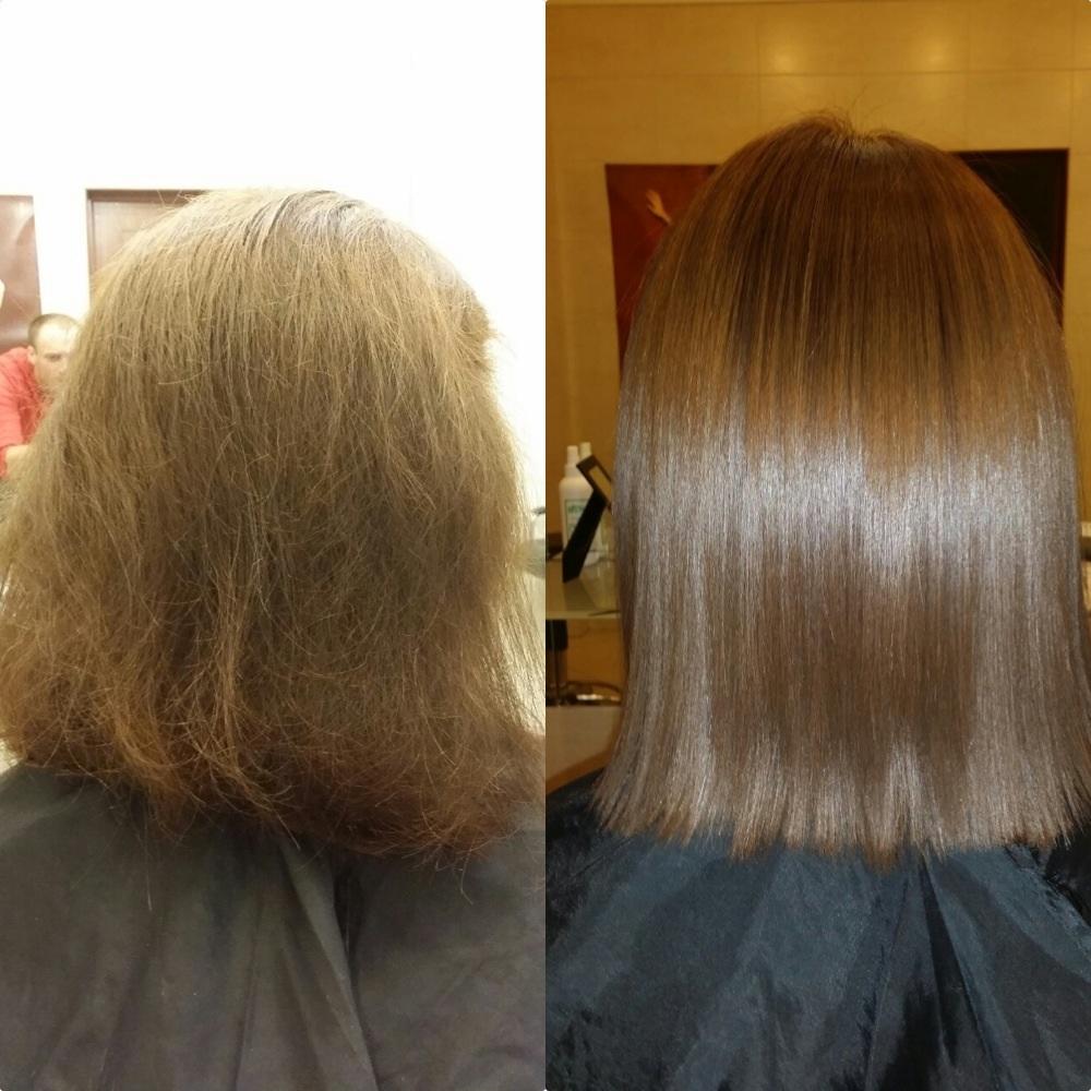 Кератиновое восстановление волос 37