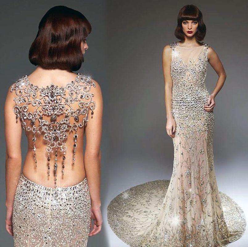 Свадебное платье с кристаллами сваровски