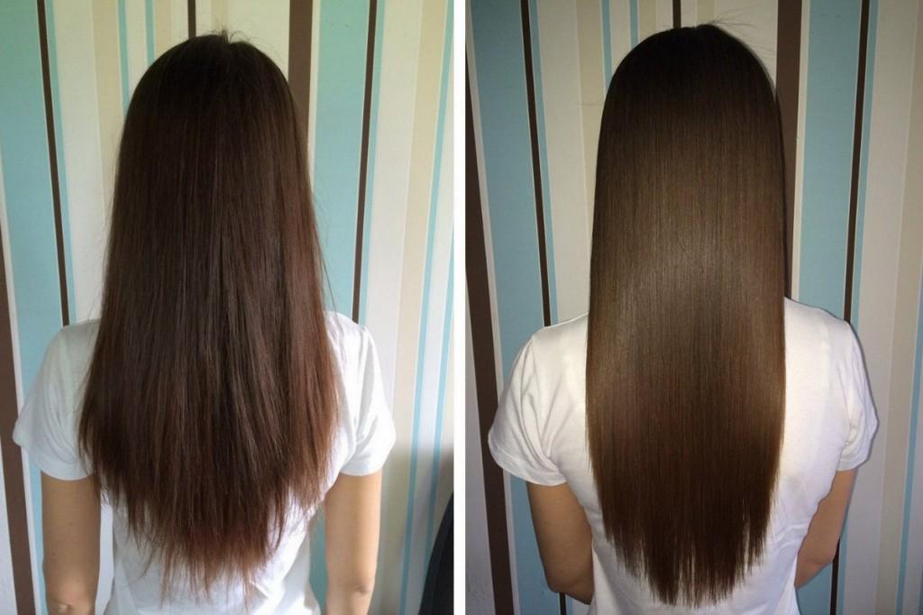 Шлифовка волос до и после фото