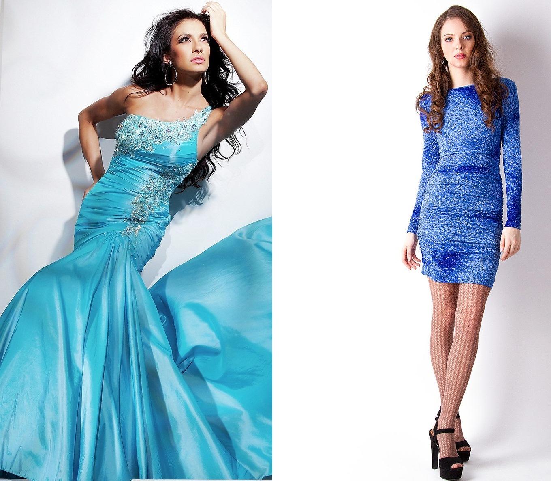 Лазурно-голубые платья
