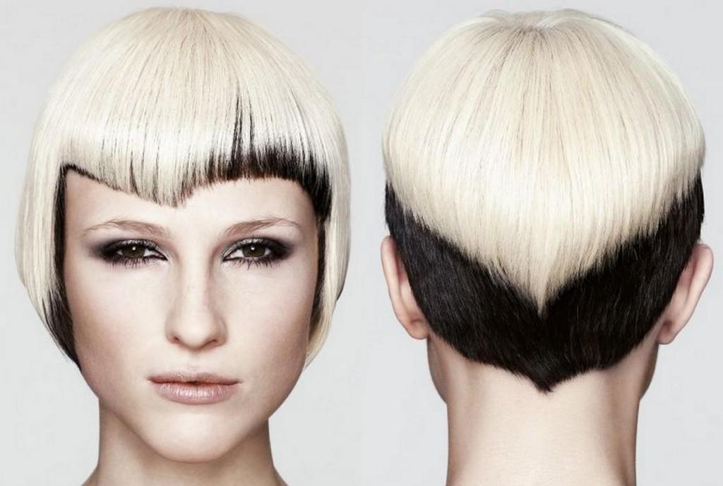 Двойное окрашивание волос на короткие волосы фото