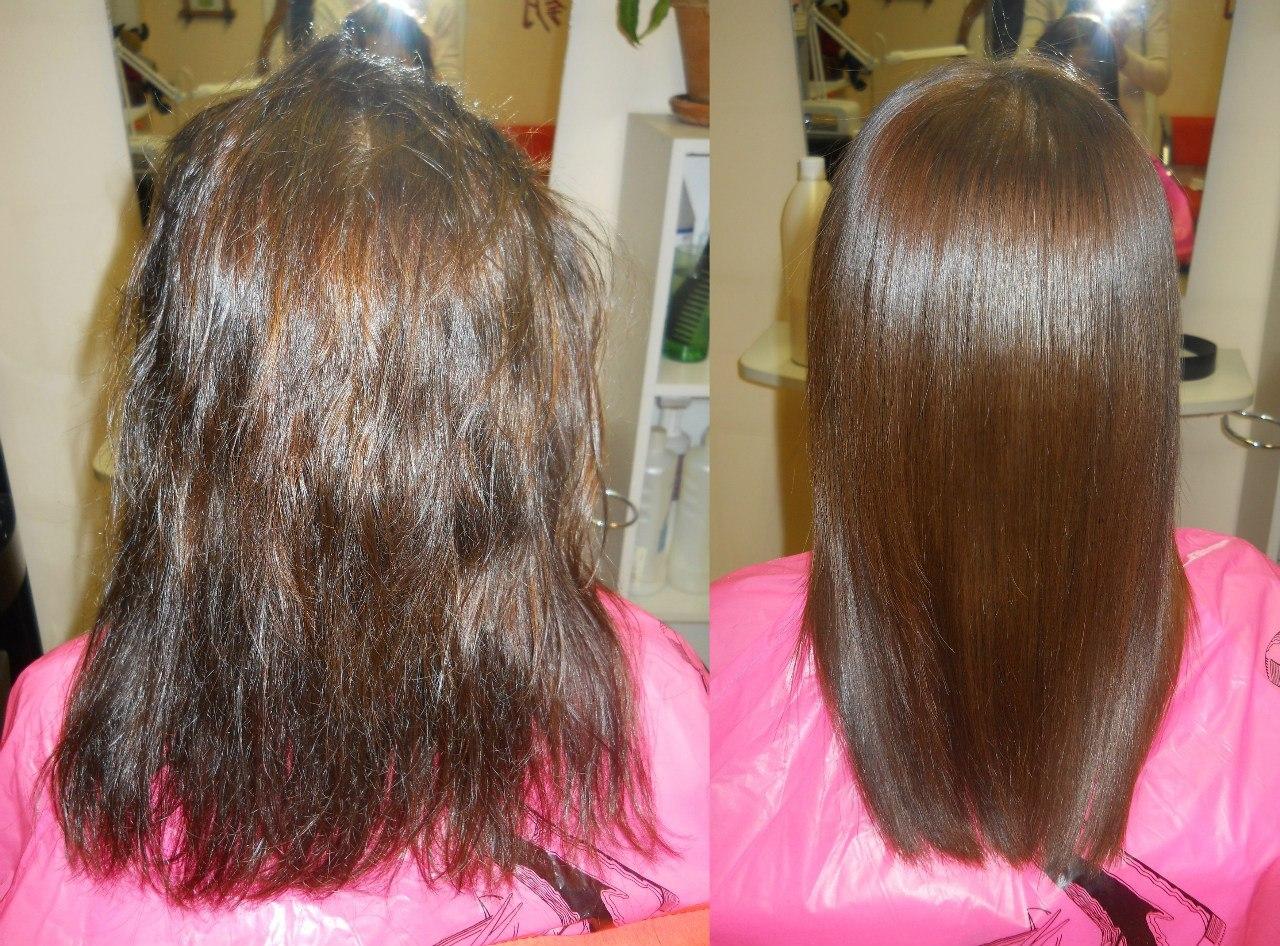 Популярное бразильское выпрямление волос