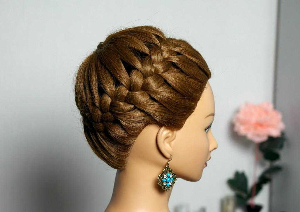 Плетение волос на средний волос