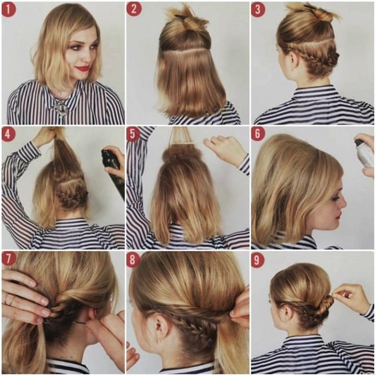 Плетение волос своими руками на средние волосы