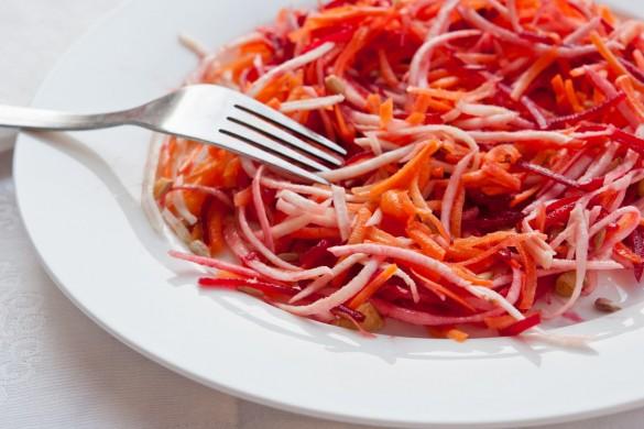 Приготовление салата щетка для похудения