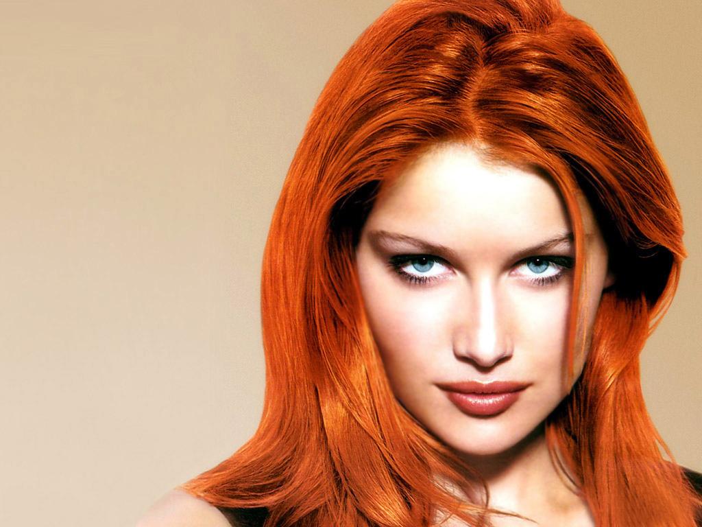 Рыжие волосы в стиле брондирование