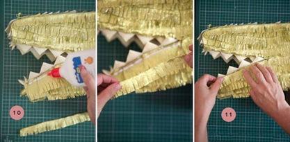 Пиньята приклеивание зубов к крокодилу