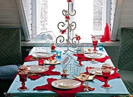 Сервировка стола. Красный