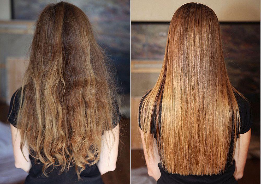 Современное кератиновое выпрямление волос