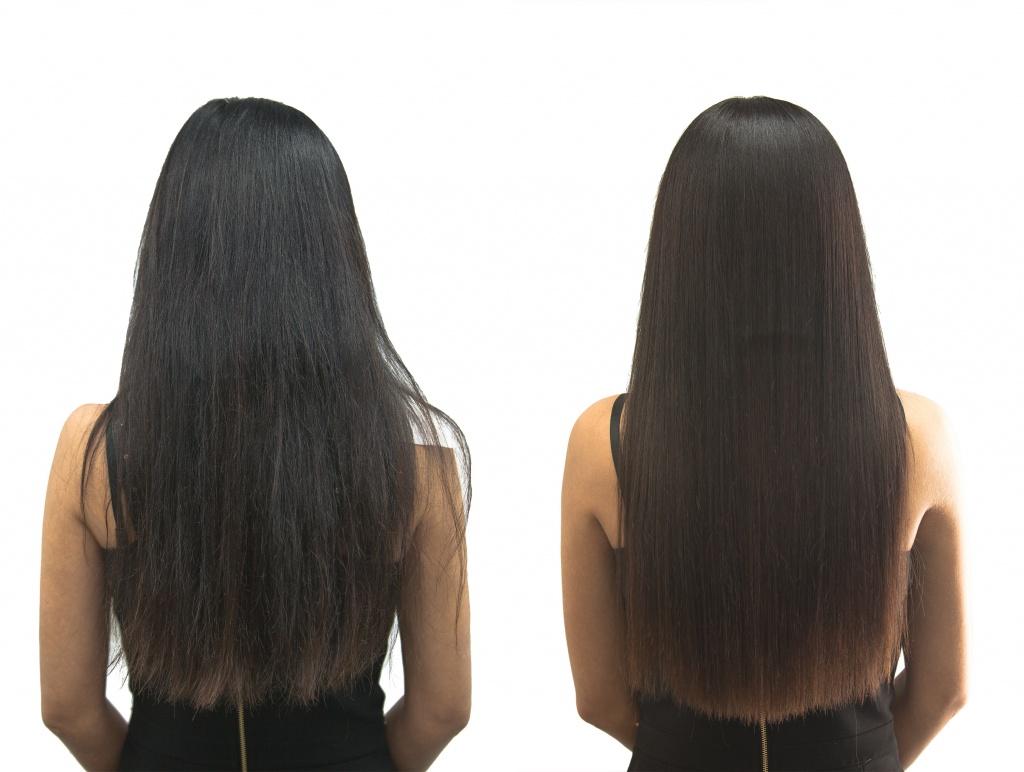 Современное бразильское выпрямление волос