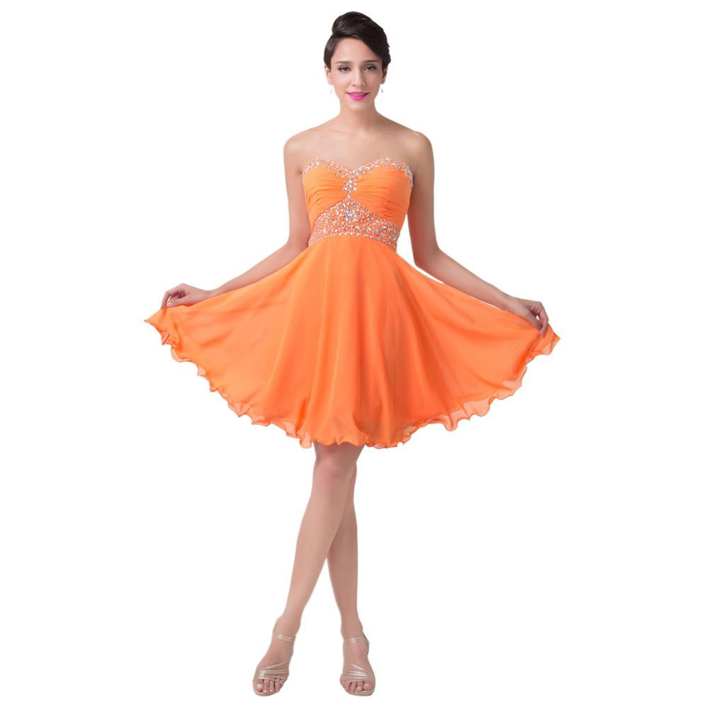 Выпускное платье оранжевого цвета