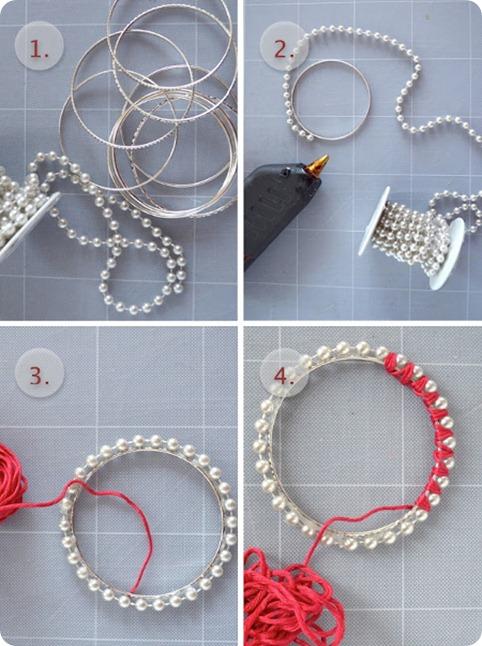 как сделать браслет из бусин
