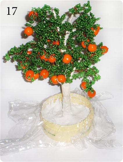 апельсиновое дерево из бисера готовим подставку
