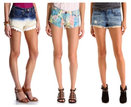 С чем одеть джинсовые шорты?