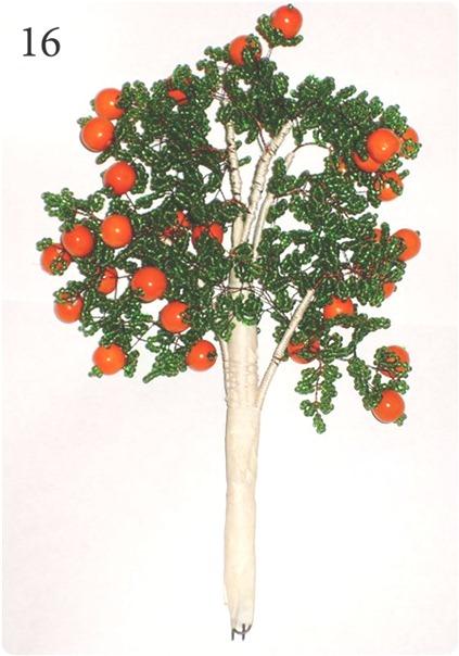 готовое апельсиновое дерево из бисера