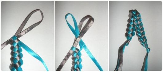 как сделать браслет из ленточек