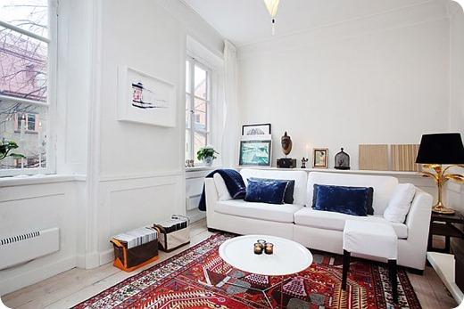 Скандинавский стиль в гостиной