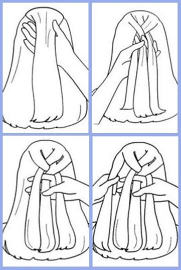 как делать колосок