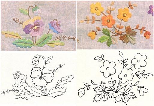 Рисунки для вышивки гладью для начинающих