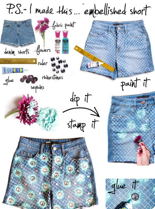 Инструкция как сделать шорты 72