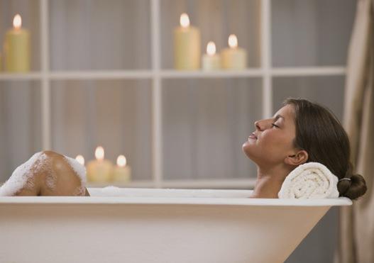ванная с эфирными маслами