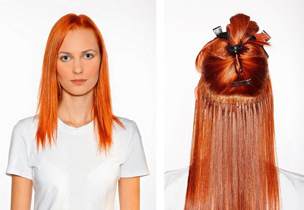 Короткие и длинные волосы с капсулами