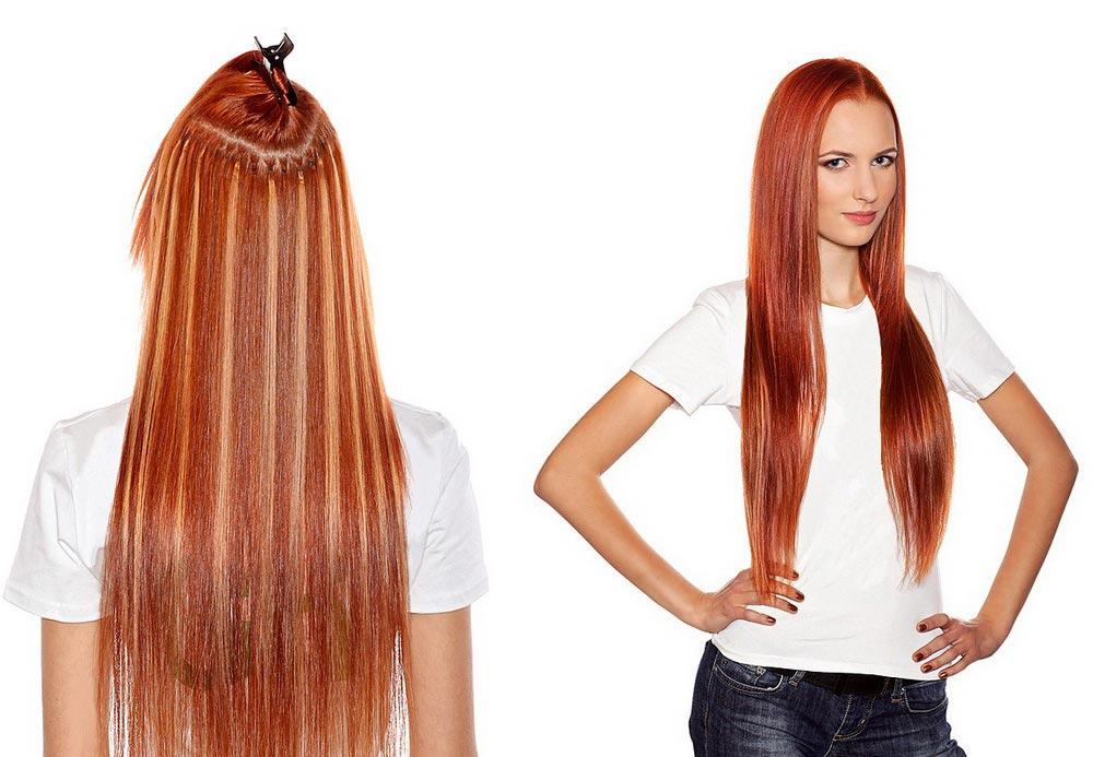 Капсулдьное наращивание длинных волос