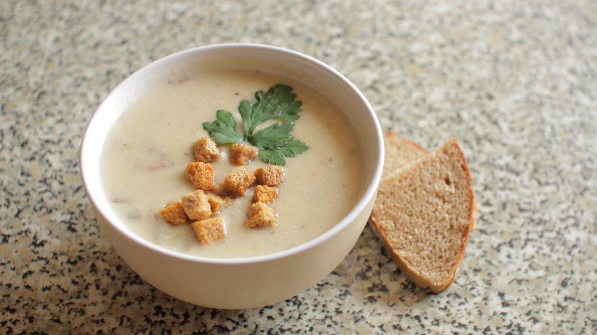 Рецепт суп пюре из шампиньонов с фото пошагово