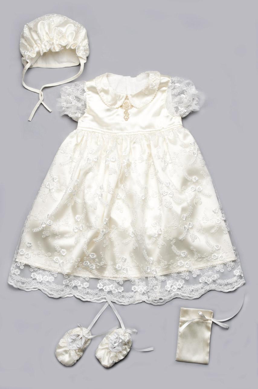 Крестильный набор платье
