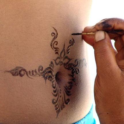 Сколько держится татуировка хной?