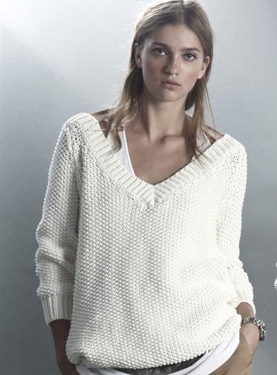 Вязаные свитера для начинающих (27 фото ) / Пуловер спицами